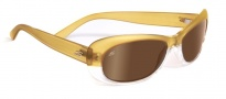 Serengeti Bella Sunglasses Sunglasses - 7631 Satin Shiny Champagne / Drivers Gold Polarized