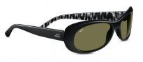 Serengeti Bella Sunglasses Sunglasses - 7629 Shiny Black Zebra / 555NM Polarized