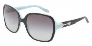 Tiffany & co. TF4056A Sunglasses Sunglasses - 80553C Top Black on Azure / Gray Gradient