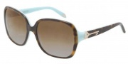 Tiffany & co. TF4056A Sunglasses Sunglasses - 8134T5 Top Havana Blue / Polarized Brown Gradient