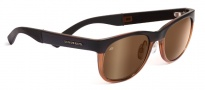Serengeti Milano Sunglasses Sunglasses - 7662 Satin Dark Brown / Shiny Cognac Drivers Gold Polarized