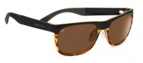 Serengeti Nico Sunglasses Sunglasses - 7646 Satin Black / Shiny Drivers Dark Tortoise
