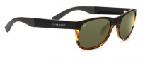 Serengeti Piero Sunglasses Sunglasses - 7640 Satin Black / Shiny Tortoise / 555NM Polarized