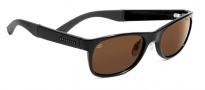 Serengeti Piero Sunglasses Sunglasses - 7634 Shiny Black / Drivers Polarized