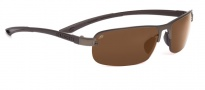 Serengeti Strato Sunglasses Sunglasses - 7683 Satin Brown / Polar PHD Drivers Gold