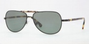 Brooks Brothers BB4003S Sunglasses Sunglasses - 10049A Black / Green Solid Polarized