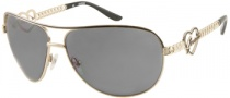 Guess GU 7105 Sunglasses Sunglasses - GDBLK-3: Shiny Gold 