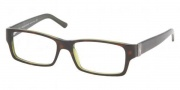 Polo PH2027 Eyeglasses Eyeglasses - 5016 Top Havana on Green Transparent