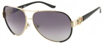 Guess GU 7132 Sunglasses Sunglasses - GLDBK-35: Shiny Gold 