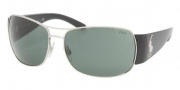 Polo PH3042 Sunglasses Sunglasses - 900171 Matte Silver / Green