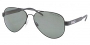 Polo PH3056 Sunglasses Sunglasses - 90389A Matte Black / Polarized Green