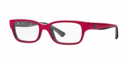 Ray-Ban Junior RY1527 Eyeglasses Eyeglasses - 3575 Top Fuxia on Gray