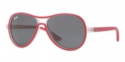 Ray-Ban Junior RJ9055S Sunglasses Sunglasses - 193/87 Transparent Cyclamen / Gray
