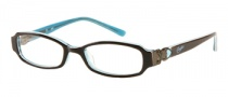 Candies C Betty Eyeglasses Eyeglasses - BRN: Brown Over Teal