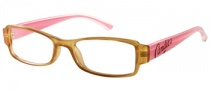 Candies C Donna Eyeglasses Eyeglasses - CRYBRN: Crystal Brown