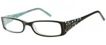 Candies C Harlow Eyeglasses Eyeglasses - BRN: Brown Turquoise