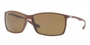 Ray-Ban RB4179 Sunglasses Sunglasses - 881/83 Matte Brown / Polarized Brown