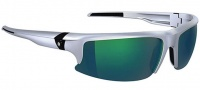 Spy Optic Rivet Sunglasses Sunglasses - Silver / Bronze W/ Green Spectra