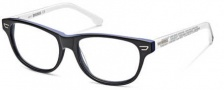 Diesel DL5005 Eyeglasses Eyeglasses - 090 Transparent Blue / Ice White Temples
