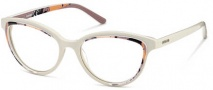 Diesel DL5009 Eyeglasses Eyeglasses - 020 Ice White / Coral Red / Brown