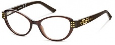 Diesel DL5011 Eyeglasses Eyeglasses - 048 Shiny Trans Dark Brown