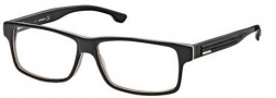 Diesel DL5015 Eyeglasses Eyeglasses - 05A Black / Trans Dark Yellow / White / Grey