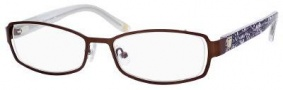 Liz Claiborne 378 Eyeglasses Eyeglasses - 0DE2 Dark Chocolate Floral 