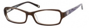 Liz Claiborne 391 Eyeglasses Eyeglasses - 0JPD Brown Crystal Floral 