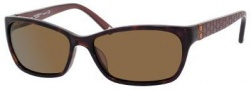 Liz Claiborne 549/S Sunglasses Sunglasses - 086P Dark Havana (VW Brown Polarized Lens)