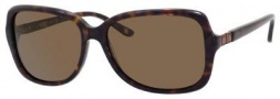 Liz Claiborne 553/S Sunglasses Sunglasses - 086P Dark Havana (VW Brown Polarized Lens)
