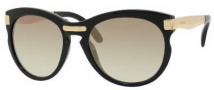 Jimmy Choo Lana/S Sunglasses Sunglasses - 0MY2 Shiny Black / NJ Brown Gold Mirror Lens