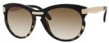 Jimmy Choo Lana/S Sunglasses Sunglasses - 0MXA Zebra Black Honey / BA Brown Gradient Lens