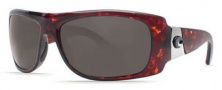 Costa Del Mar Bonita Sunglasses Tortoise Frame Sunglasses - Dark Gray / 400G