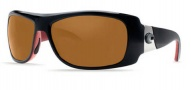 Costa Del Mar Bonita Sunglasses Black Coral Frame Sunglasses - Dark Amber / 400G
