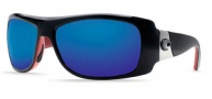Costa Del Mar Bonita Sunglasses Black Coral Frame Sunglasses - Blue Mirror / 580G