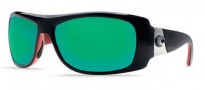 Costa Del Mar Bonita Sunglasses Black Coral Frame Sunglasses - Green Mirror / 580G