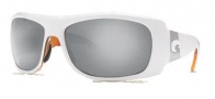 Costa Del Mar Bonita Sunglasses White Tortoise Frame Sunglasses - Silver Mirror / 580G