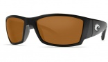 Costa Del Mar Corbina Sunglasses Black Frame Sunglasses - Dark Amber / 400G