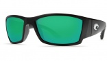 Costa Del Mar Corbina Sunglasses Black Frame Sunglasses - Green Mirror / 580G