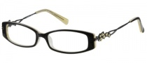 Harley Davidson HD 340 Eyeglasses Eyeglasses - BLK: Black On Yellow 