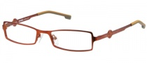 Harley Davidson HD 348 Eyeglasses Eyeglasses - OR: Satin Orange