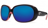 Costa Del Mar Hammock Black Coral Frame Sunglasses - Blue Mirror / 400G
