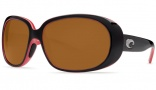 Costa Del Mar Hammock Black Coral Frame Sunglasses - Dark Amber / 400G