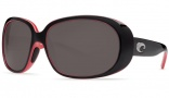 Costa Del Mar Hammock Black Coral Frame Sunglasses - Dark Gray / 400G