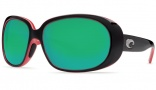 Costa Del Mar Hammock Black Coral Frame Sunglasses - Green Mirror / 400G