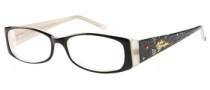 Harley Davidson HD 394 Eyeglasses Eyeglasses - BLK: Black Over Bone