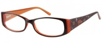 Harley Davidson HD 394 Eyeglasses Eyeglasses - BRN: Brown Over Rust