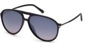Tom Ford FT0254 Matteo Sunglasses Sunglasses - 01B Matte Black