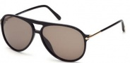 Tom Ford FT0254 Matteo Sunglasses Sunglasses - 01M Shiny Black