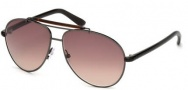 Tom Ford FT0244 Bradley Sunglasses Sunglasses - 08F Shiny Gunmetal / Gradient Brown